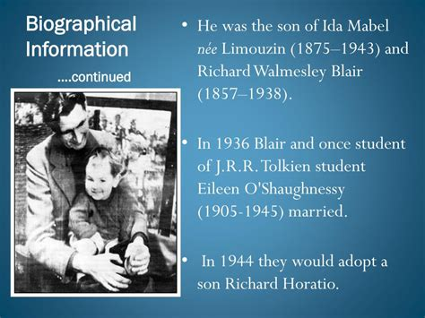 biography information definition ppt george orwell powerpoint presentation id 301095