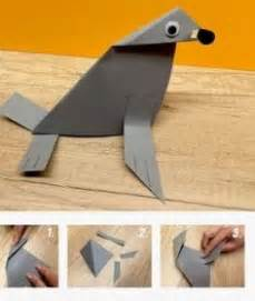 How To Make A Seal Out Of Paper - seal craft made out of a paper bag and construction paper