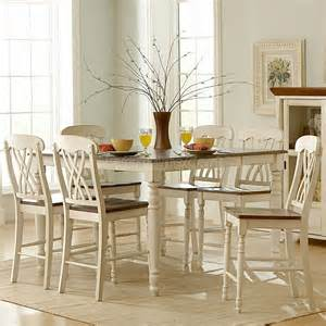dining room sets white ohana counter height dining room set white homelegance