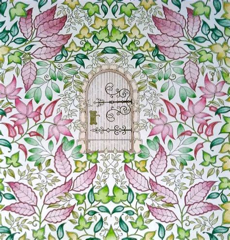 secret garden coloring book completed johanna basford s secret garden and enchanted forest