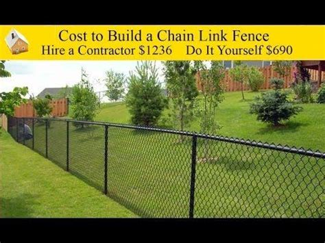 cost to fence a backyard 25 best ideas about chain link fence cost on