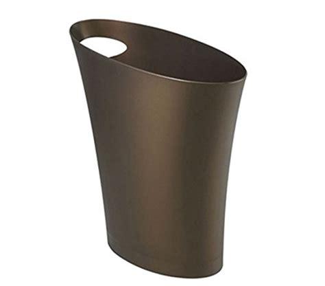 bronze bathroom trash can umbra skinny trash can sleek stylish bathroom trash can small garbage can