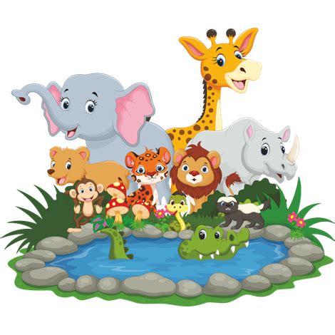 imagenes en png de animales vinilo decorativo quot animales de la selva quot