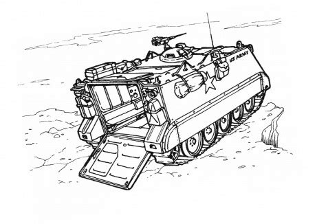 missile trucks colouring pages