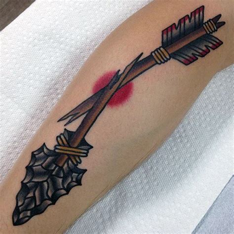 traditional arrow tattoo 50 traditional arrow designs for archery ideas