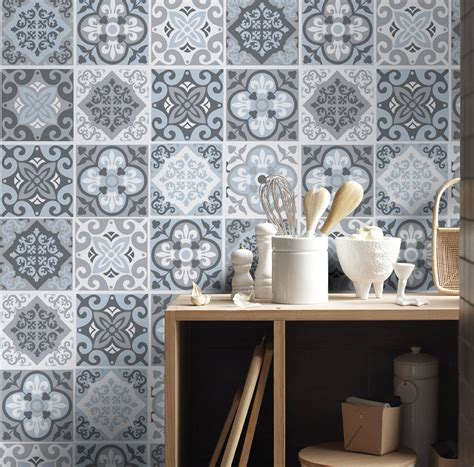 Kitchen Backsplash Stickers by Tile Stickers Tile Decals Backsplash Tile Vintage Blue