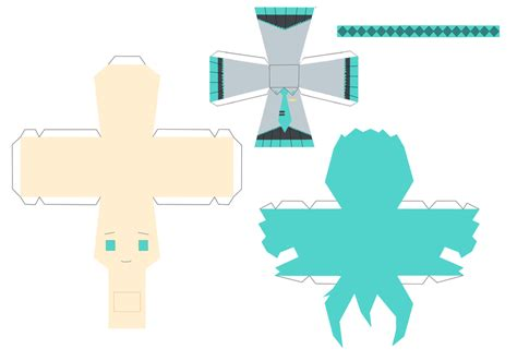 How To Make Papercraft Dolls - miku hatsune paper doll 1 by bakufun721 on deviantart