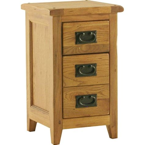 tiny bedside table tuscany solid oak furniture small bedroom bedside table