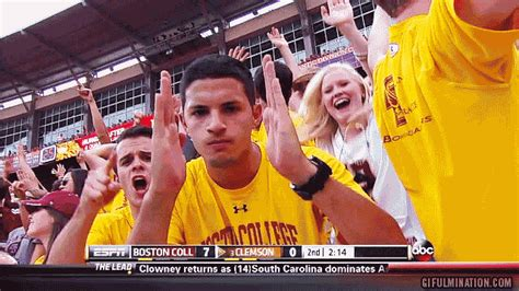 college sports fan boston college gif of the year sweet 16 matchup 5 bc