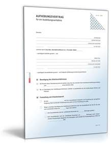 Muster Kündigung Innerhalb Der Probezeit Aufhebungsvertrag Ausbildungsverh 228 Ltnis Muster Zum