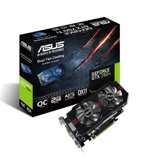Vga Nvidia Geforce Gtx 750 Ti 2gb Ddr5 128bit asus nvidia geforce gtx 750 ti 2gb performance graphics buy asus nvidia geforce gtx 750 ti 2gb