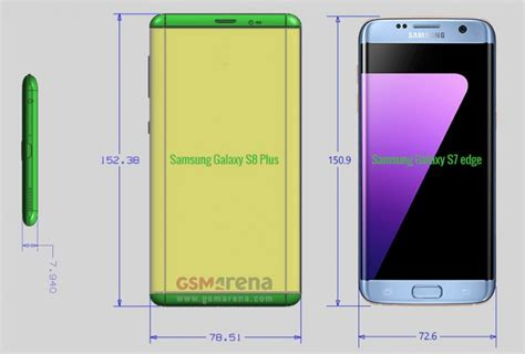galaxy s specs samsung galaxy s8 and s8 plus size specifications leaks