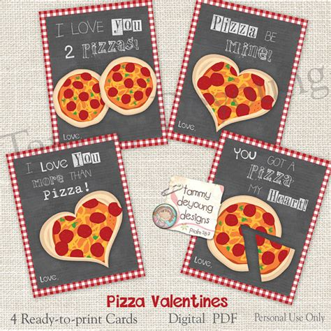 Pizza Valentines Card Template pizza valentines cards for valentines