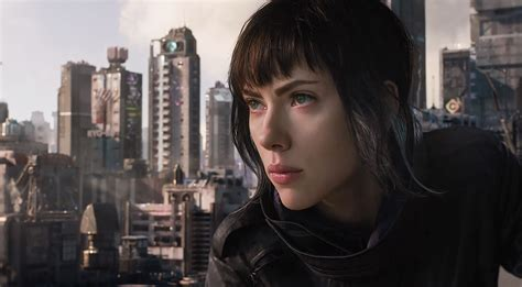 Scarlett Johansson Anime Movie Ghost In The Shell Screencaps Starring Scarlett Johansson