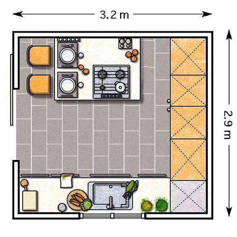 cocinas planos doce cocinas con barra y sus planos cocina cuadrada
