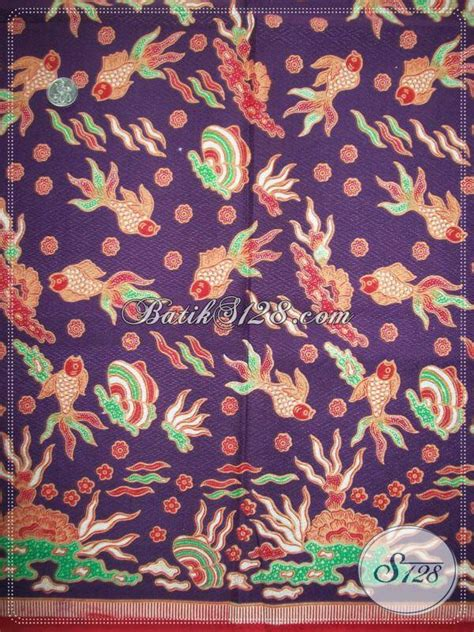 Batik Pd Ungu batik motif ikan batik warna ungu batik ungu motif ikan