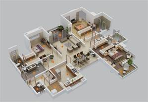 Large Apartment Floor Plans by 3 Bedroom Apartment House Plans