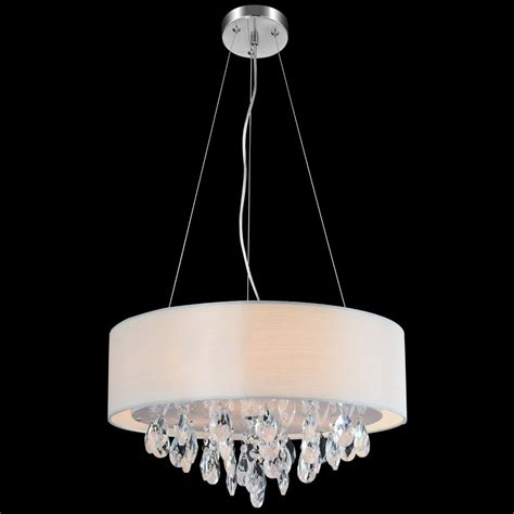 round fabric shade pendant light brizzo lighting stores 18 quot struttura modern crystal round
