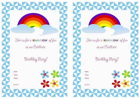 free printable invitation rainbow rainbow free printable birthday party invitations