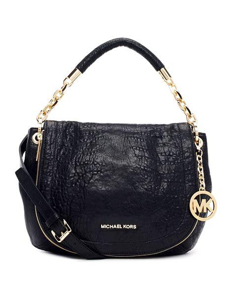 Mk Bag michael michael kors medium stanthorpe shoulder bag in black lyst