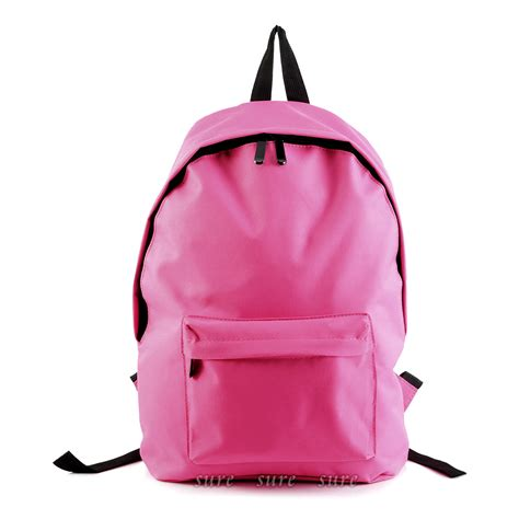 Plain Backpack fashion mens womens unisex hiking travel canvas school bag