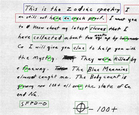 Service Information Letter Zodiac the gallery for gt zodiac killer cipher
