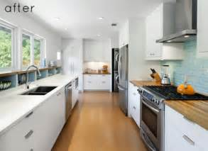Galley Kitchen Design Ideas Photos by Before And After Modern Galley Kitchen Design Bookmark
