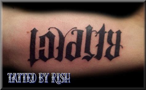 loyalty and respect tattoos loyalty respect by rish