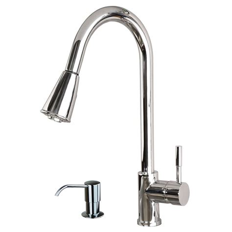 kitchen sink faucets with sprayers contemporary 16 quot pull spray kitchen sink faucet with soap dispenser chrome ebay