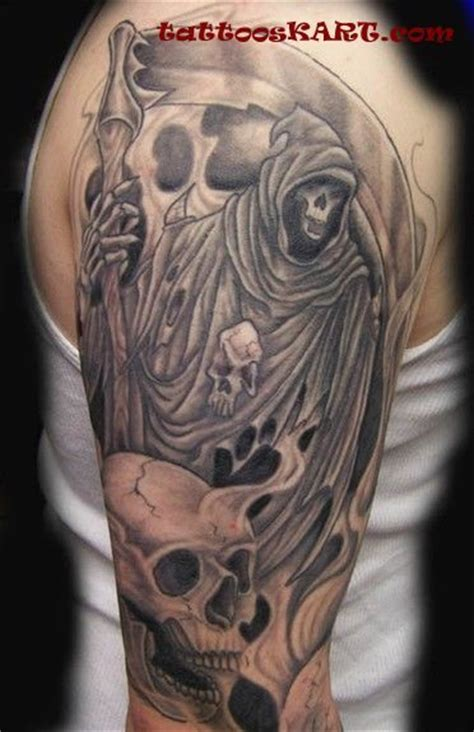 scary grim reaper tattoos laughing skulls and grim
