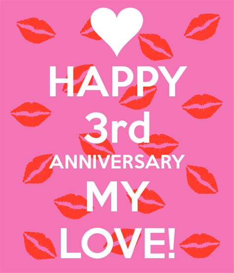 3rd anniversary images happy 3rd anniversary my poster melina keep calm o matic