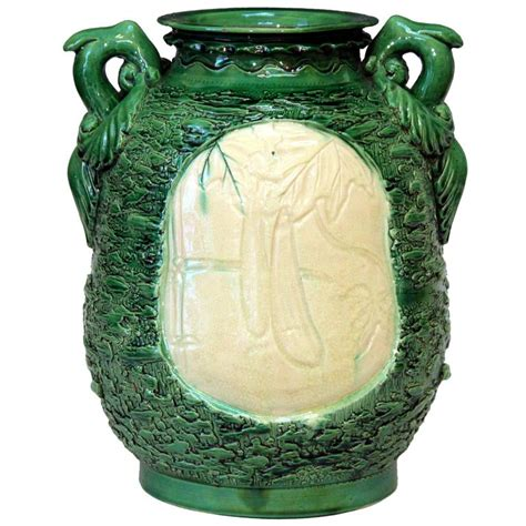 unusual vases awaji pottery large unusual carved frothy vase for sale at