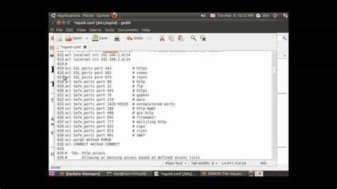 tutorial install squid ubuntu install configure squid proxy server in ubuntu 2 3