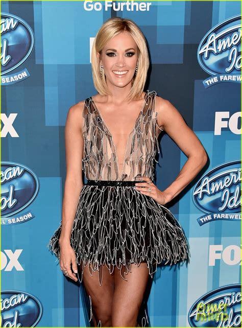 Carie Top carrie underwood wears sheer dress to american idol