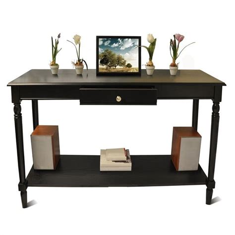 console table with drawer and shelf black 6042187bl