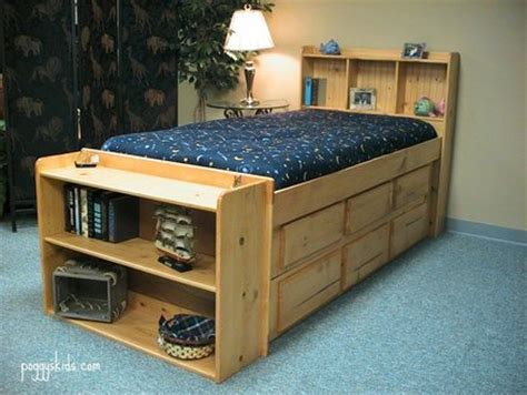captains bed plans bookcase captain s bed custom by chris davis