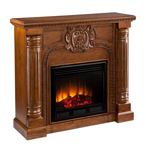 romano electric fireplace salem antique oak
