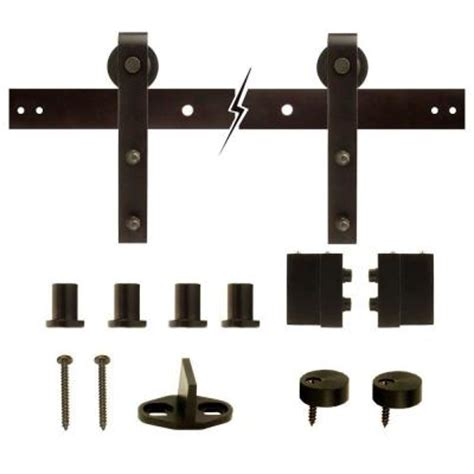 rubbed bronze decorative sliding door hardware