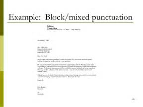 business letter salutation punctuation lecture 05 writing a business letter