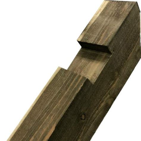 Fence Posts Notched Wooden Post Pressure Treated