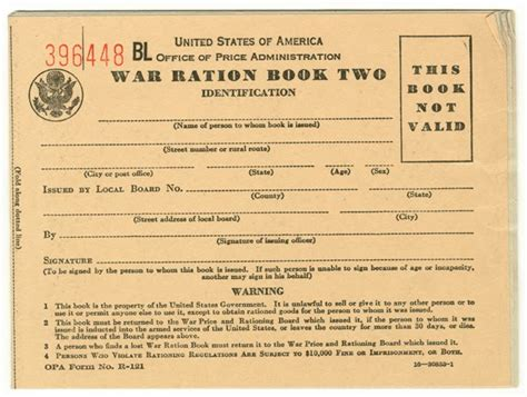rationing book template make it do rationing of canned goods in world war ii