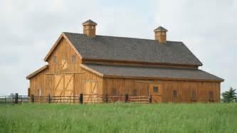 Loft Barn Plans Traditional Wood Barn Great Plains Western Horse Barn