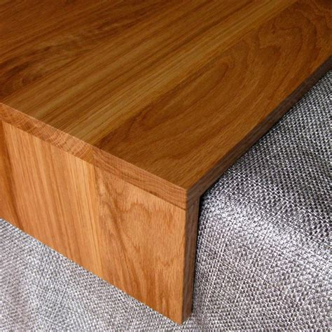 ottoman wood ottoman wrap tray reclaimed wood drink rest table for couch