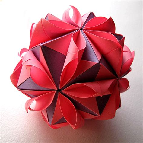 Paper Flower Origami - origami flower by fanshefolds on etsy