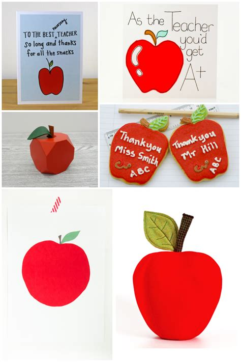 Thank You Gifts For Teachers Handmade - an apple for say thank you with a picked gift