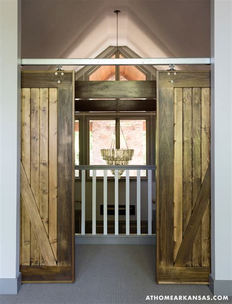 hanging barn door from ceiling interior barn doors cottage entrance foyer at home