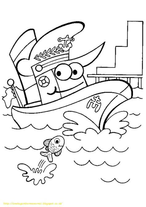 mewarnai gambar bajak laut mewarnai gambar 20 gambar mewarnai kapal laut untuk anak paud dan tk