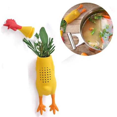 saringan infuser container ramuan herbal model ayam yellow jakartanotebook