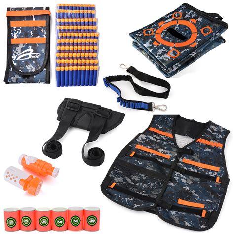 Phantom Soft Bullet Gun 802 tactical vest waist belt pistol holster set bag for elite nerf th600 ebay