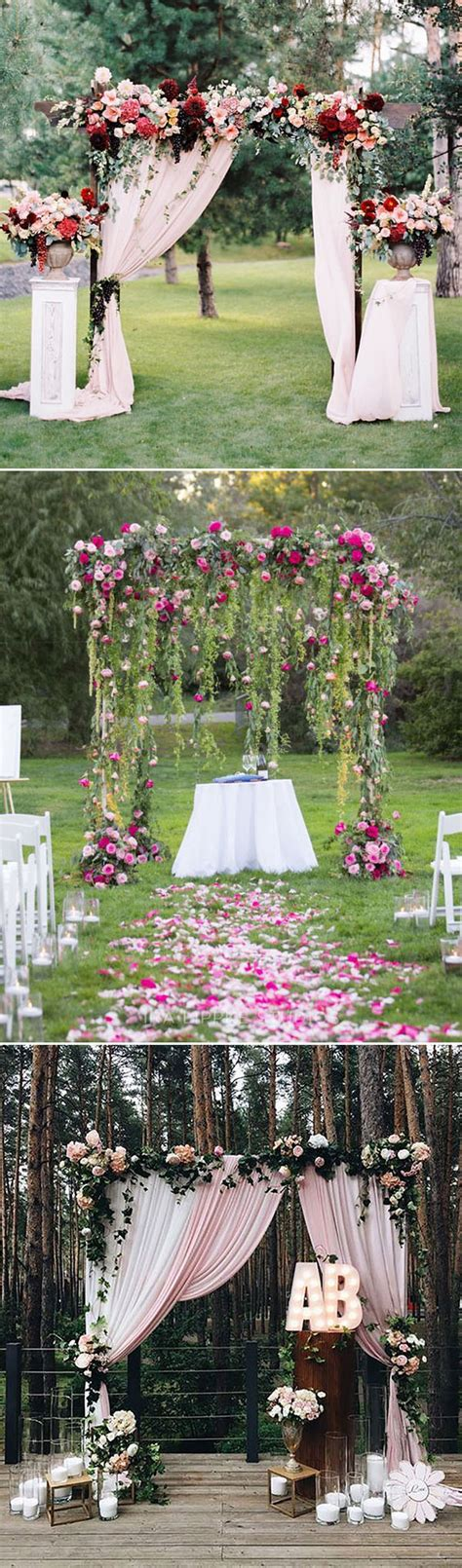 Wedding Arch Ideas Outdoor Weddings by 30 Best Floral Wedding Altars Arches Decorating Ideas